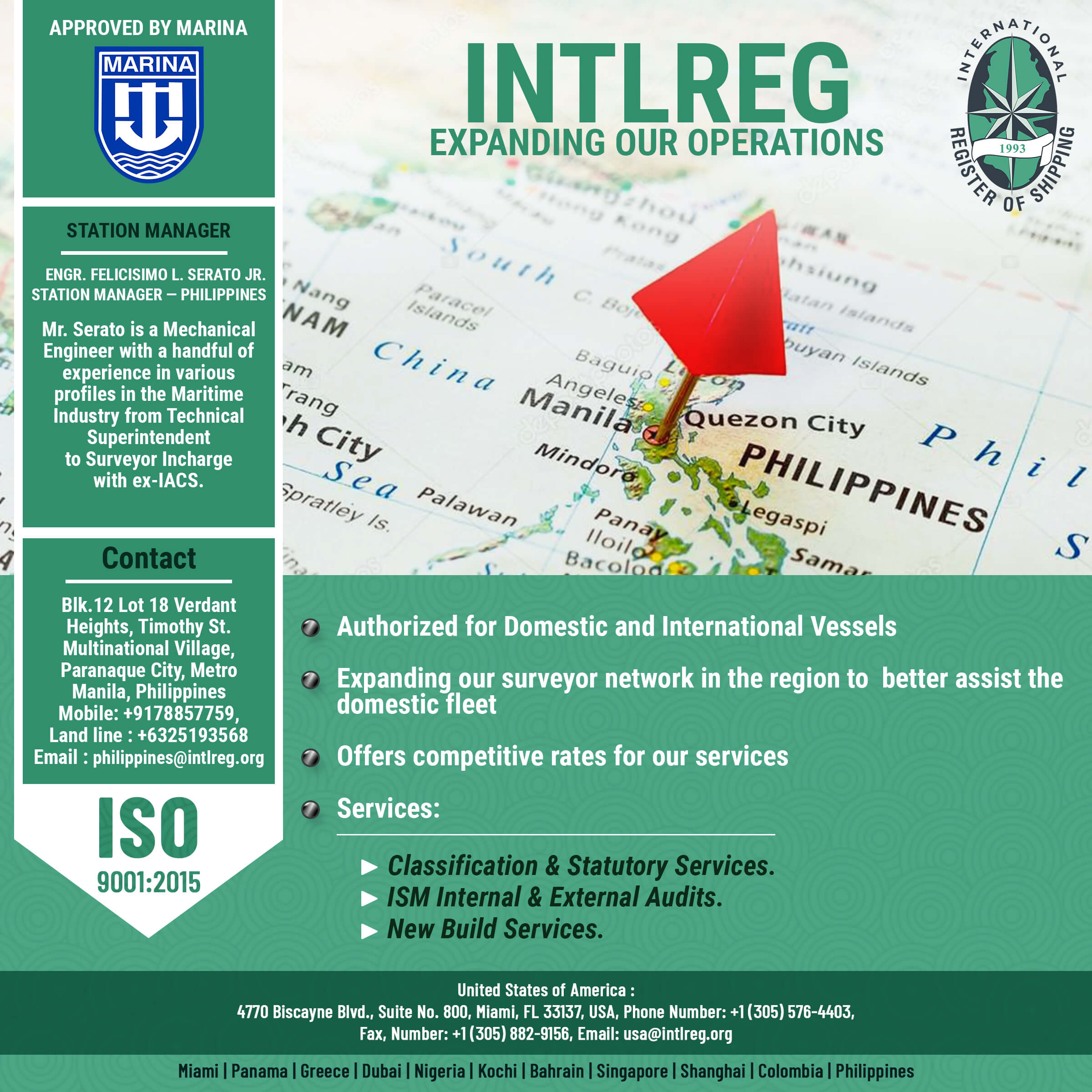 INTLREG – Expanding our operations at Philippines